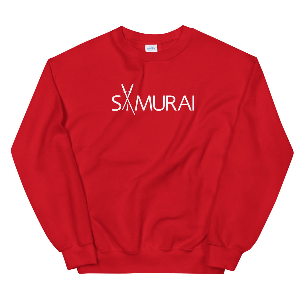 Samurai Sweatshirt | Red Crewneck Samurai Sweatshirt for Women