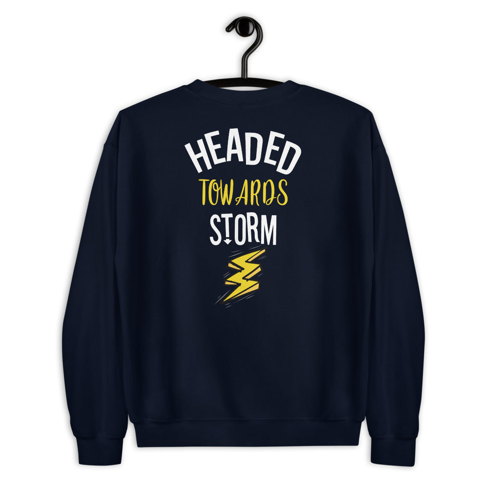 Headed Towards Storm Sweatshirt in Navy for Women