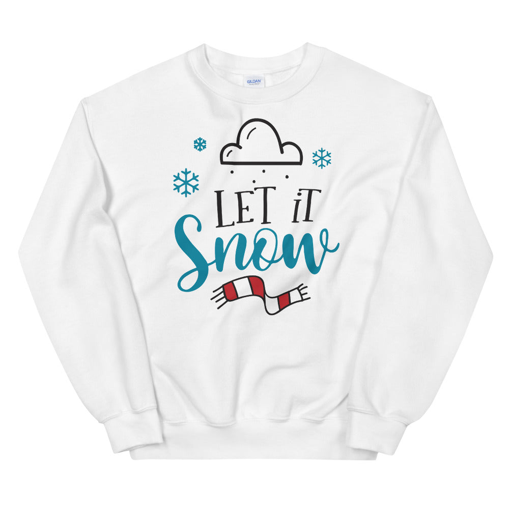 Let it Snow Crewneck Sweatshirt for Women