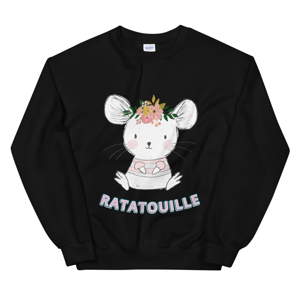 Cute Mouse Rat Ratatouille Crewneck Sweatshirt for Women