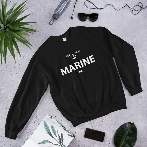 USA Marine Girlfriend Crew Neck Sweatshirt for Women