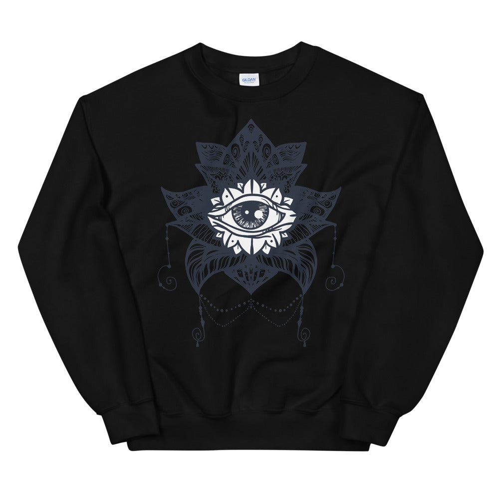 The Eye of Providence & Black Lotus Magic Sweatshirt for Women