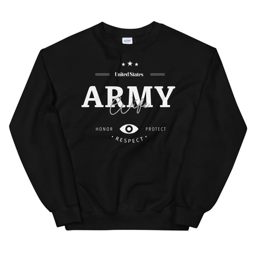 Army Wife Sweatshirt | US Army Wife Crew Neck For Women