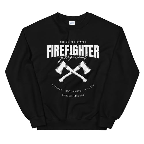 Firefighter Girlfriend Sweatshirt | Fire Girlfriend Crewneck for Women