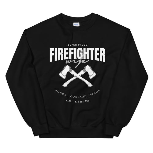 Proud Firefighter Wife Sweatshirt Crewneck for Hero's Wifey