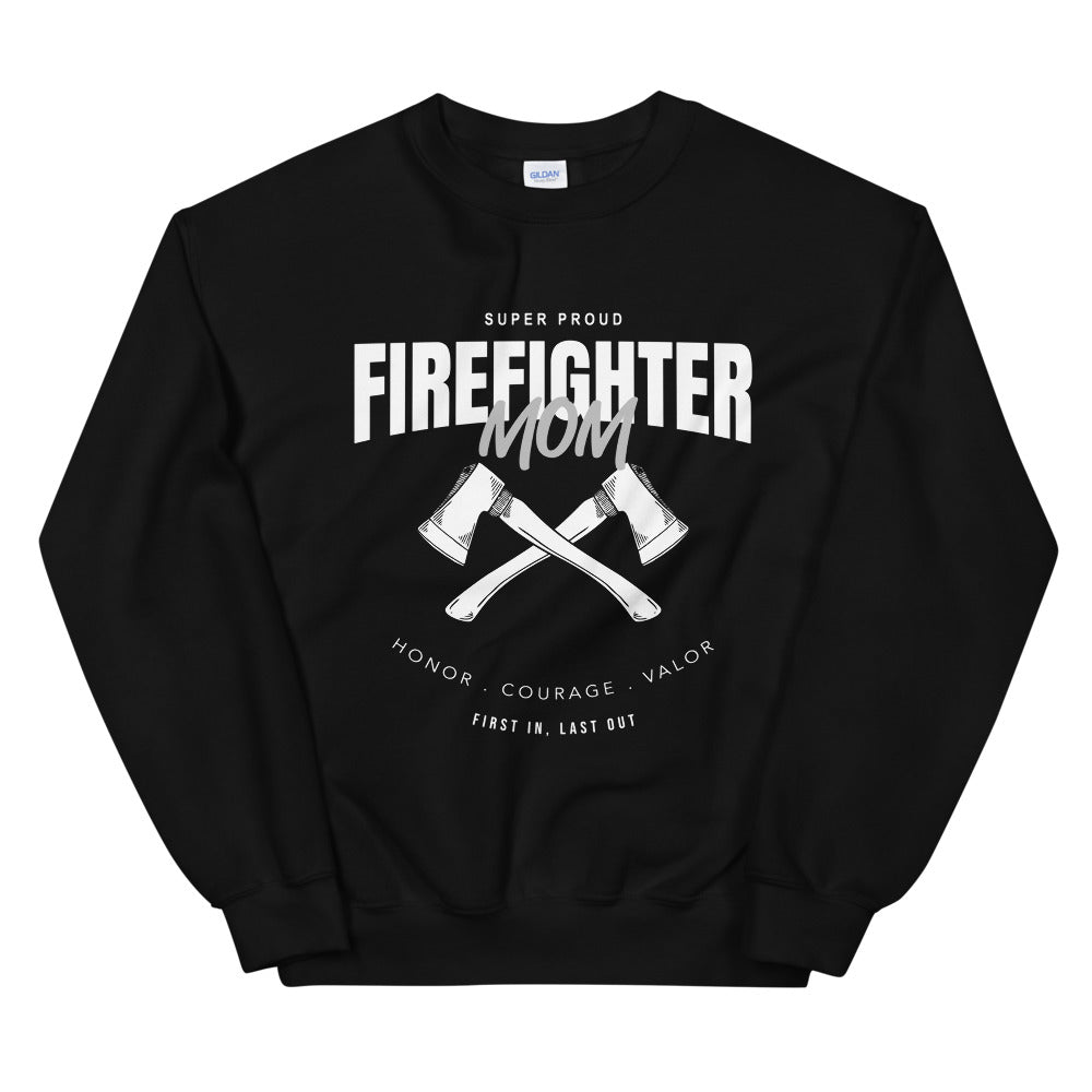 Proud Firefighter Mom Sweatshirt Crewneck for Hero's Mother