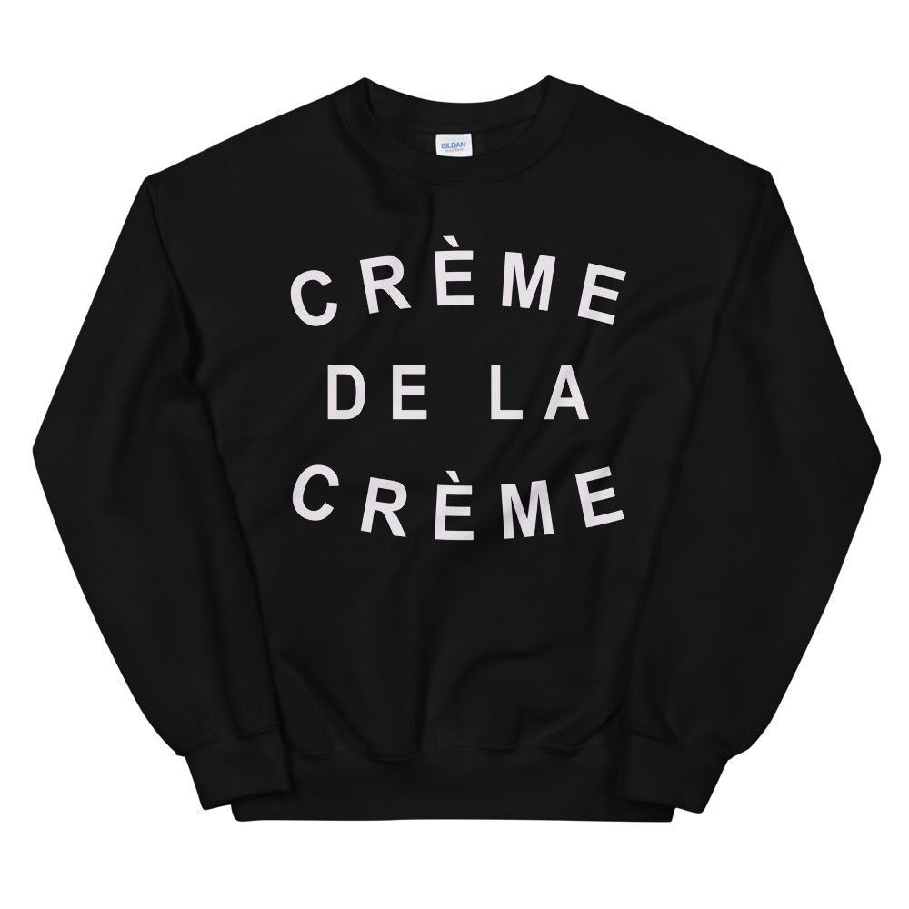 Creme De La Creme Sweatshirt Crew Neck for Women