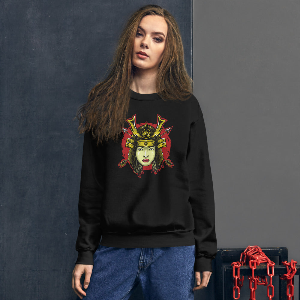 Samurai Warrior female Crewneck Sweatshirt for Women