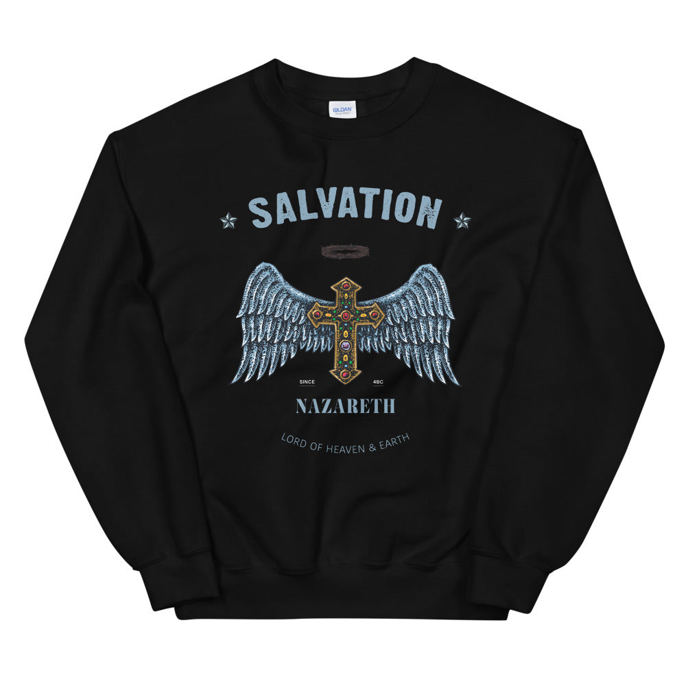Salvation Sweatshirt | Jesus Cross Lord of Heaven & Earth Crewneck