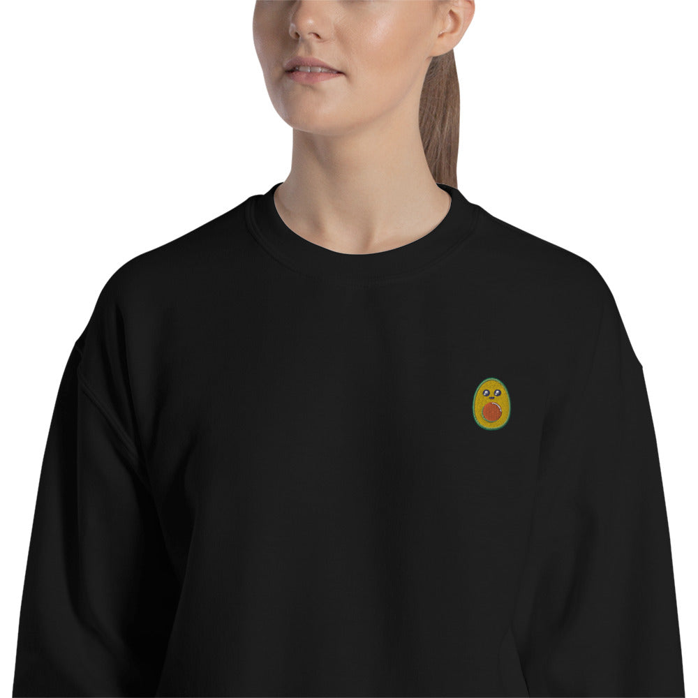 Avocado Embroidered Pullover Crewneck Sweatshirt