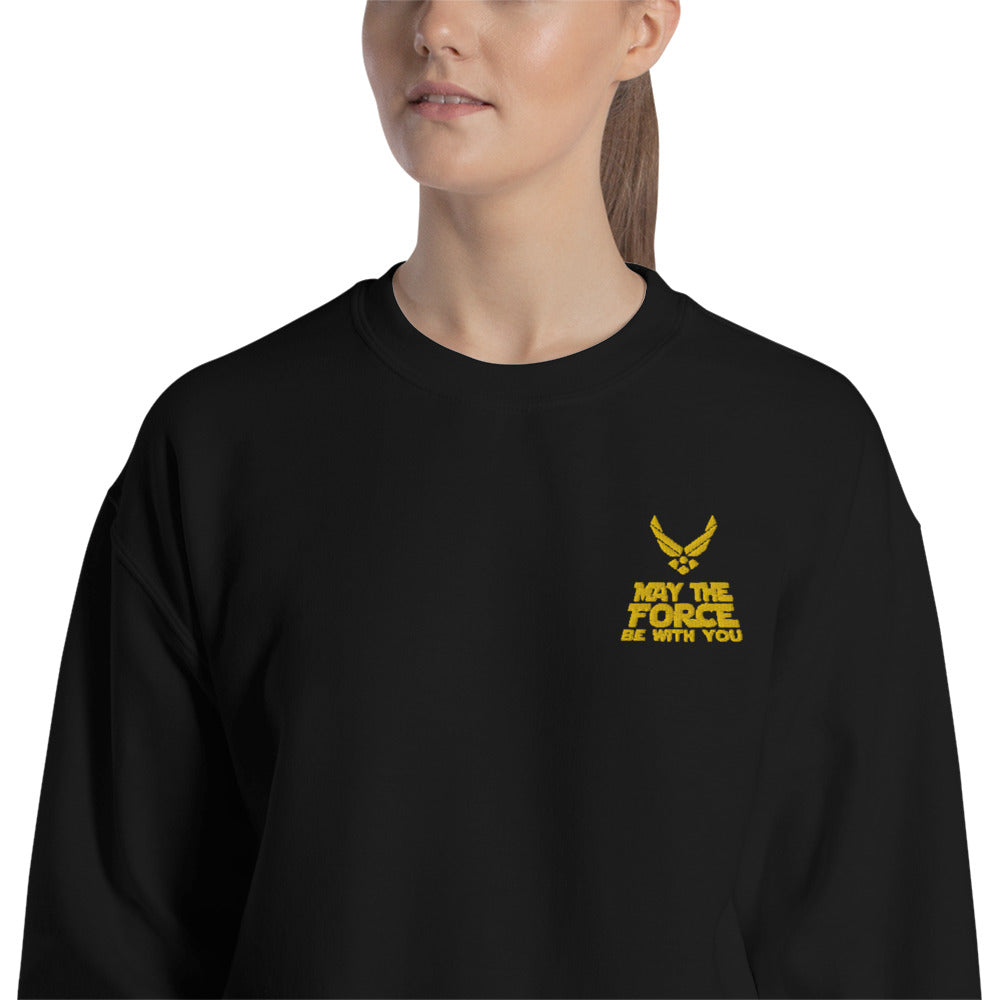 May the Force Be With You Sweatshirt Embroidered Pullover Crewneck