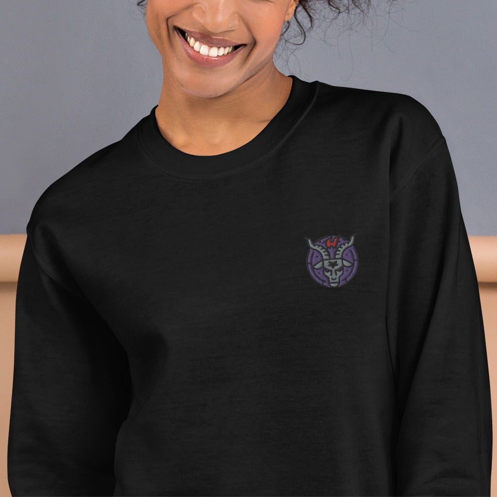 Baphomet Sweatshirt Custom Embroidered Pullover Crewneck