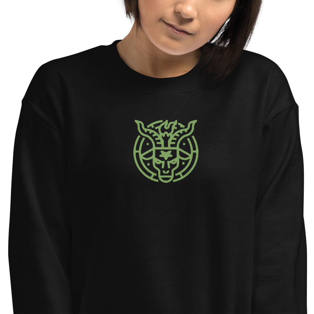 Baphomet, Invented Pagan, Gnostic Idol or Deity Embroidered Sweatshirt