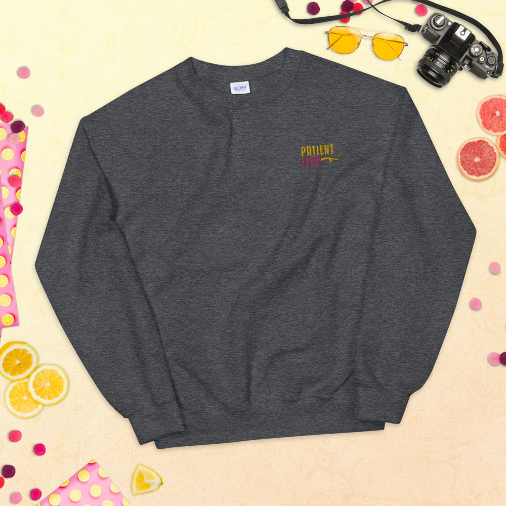 Patient Zero Meme Sweatshirt Custom Embroidered Pullover Crewneck