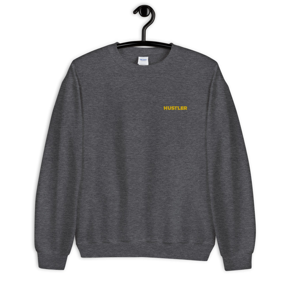 Goal Oriented Hustler Embroidered Pullover Crewneck Sweatshirt