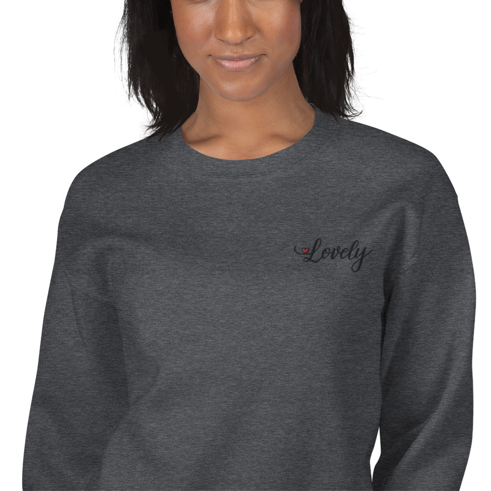 Lovely Sweatshirt Custom Embroidered Pullover Crewneck