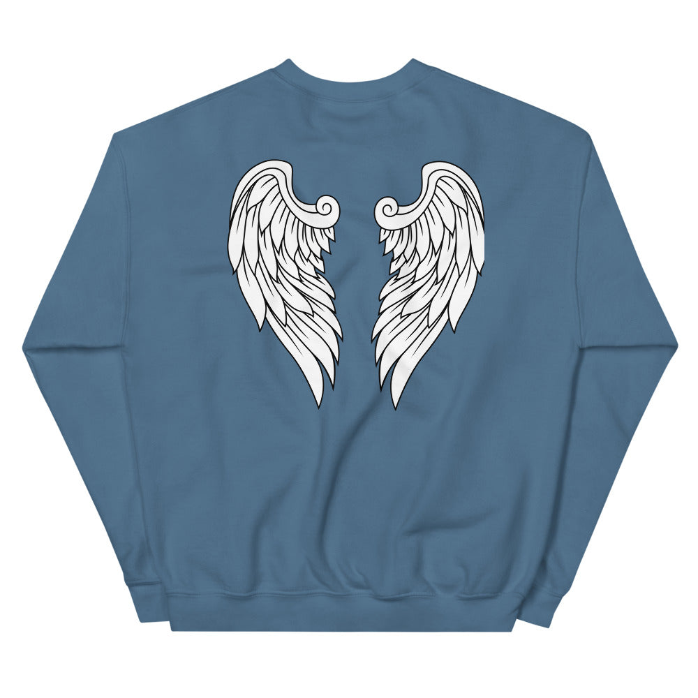 Angel Wing Sweatshirt Crewneck for Women