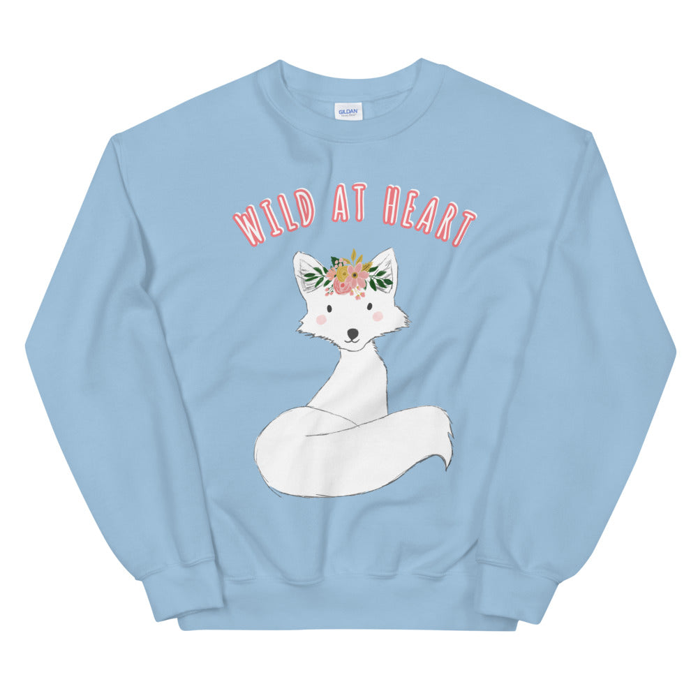 Fox Sweatshirt | Wild at Heart Fox Crew Neck For Women
