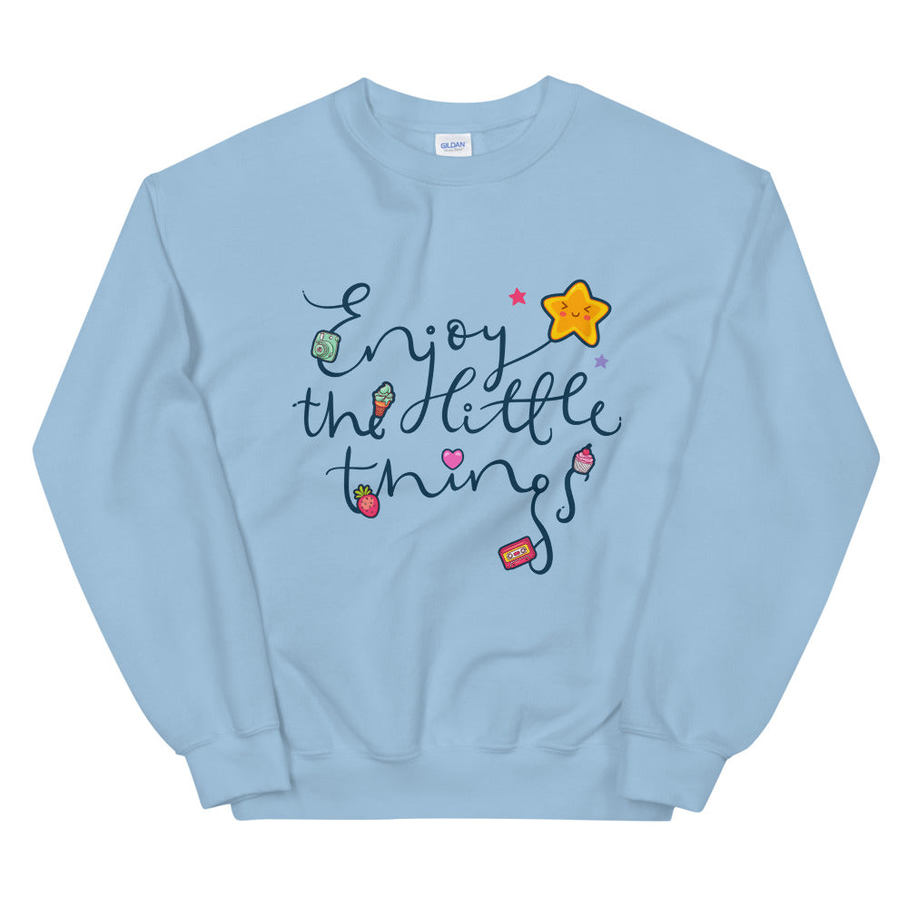 Enjoy Little Things Crewneck Sweatshirt for Women