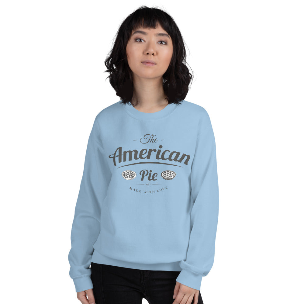 The American Pie Crewneck Sweatshirt Made With Love