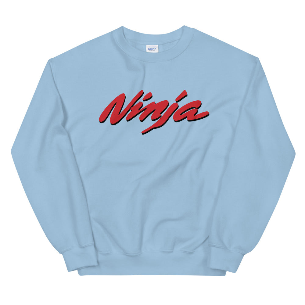 "Ninja Sweatshirt | One Word ""Ninja"" Crew Neck for Women"