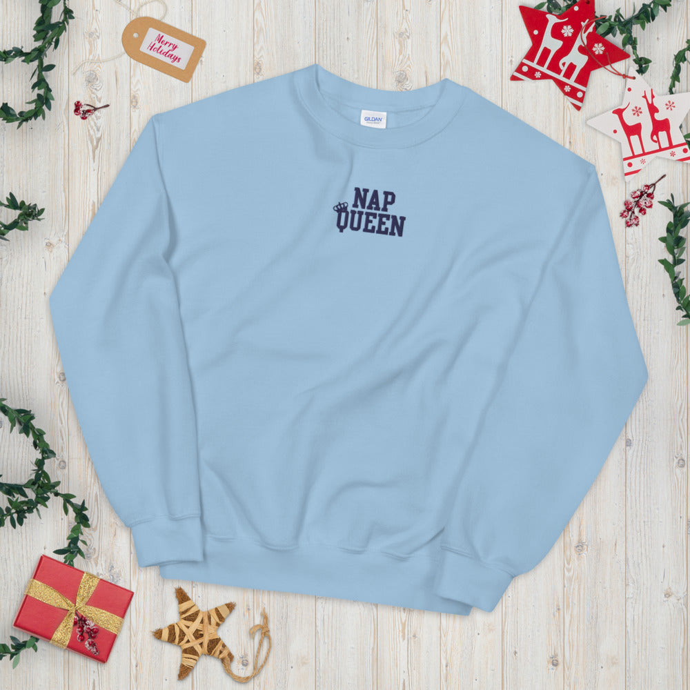 Expression Sweatshirt Nap Queen for Lazy Days Pullover Crewneck