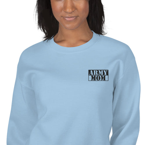Army Mom Sweatshirt Custom Embroidered Pullover Crewneck
