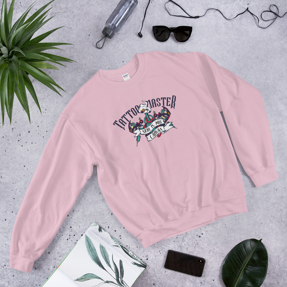 Tattoo Master Skin is My Canvas Crewneck Sweatshirt Women
