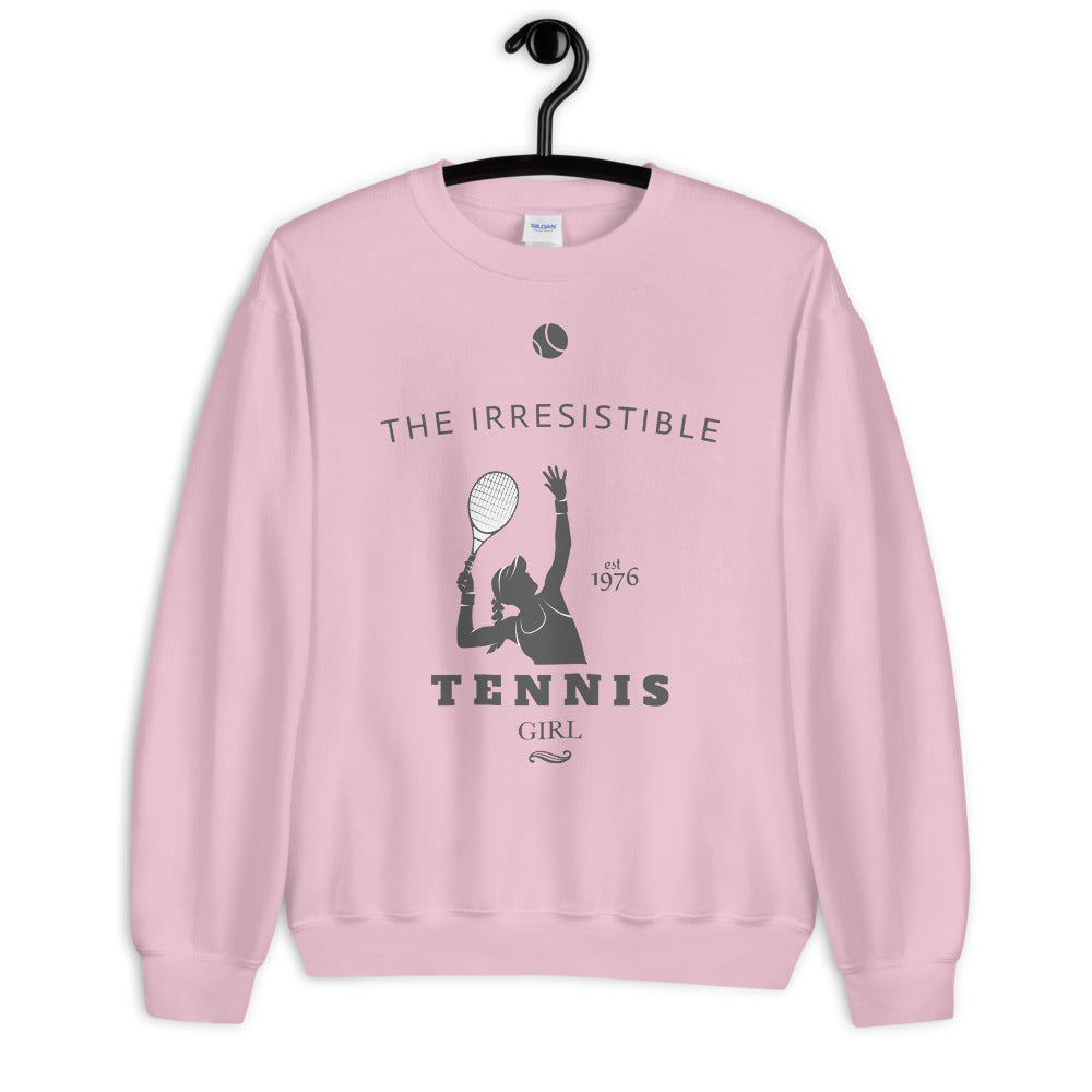 Irresistible Tennis Girl Crewneck Sweatshirt for Women