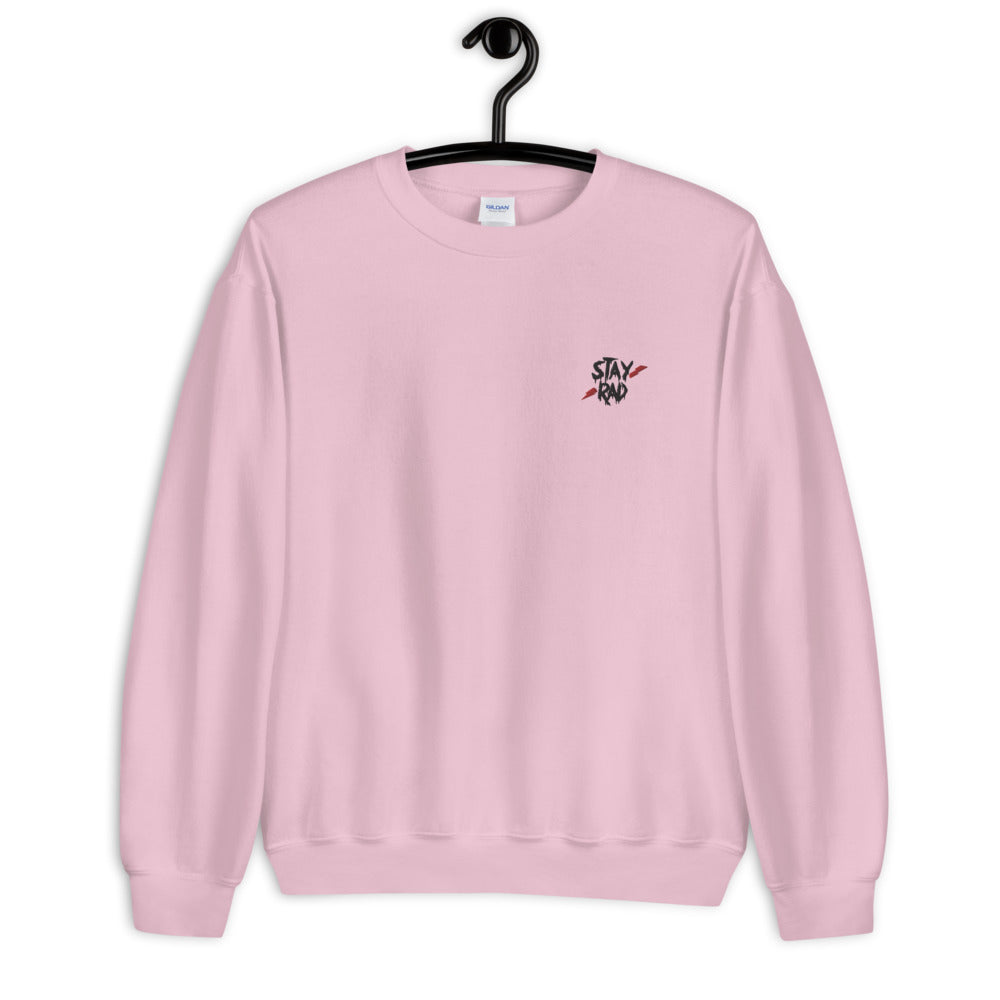 Stay Rad Sweatshirt Custom Embroidered Pullover Crewneck