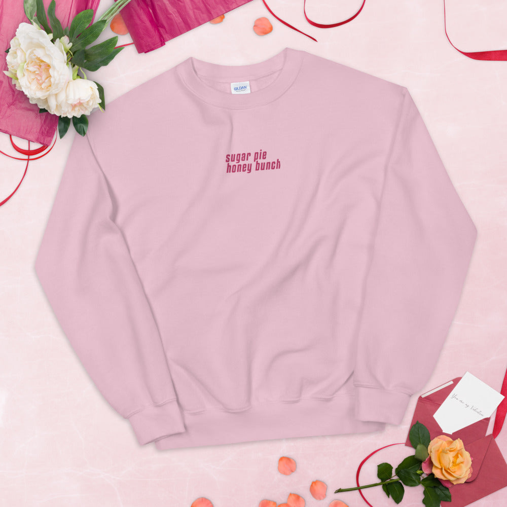 Sugar Pie Honey Bunch Embroidered Pullover Crewneck Sweatshirt