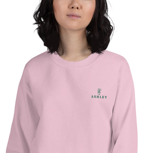Ashley Sweatshirt | Personalized Embroidered Name Pullover Crewneck