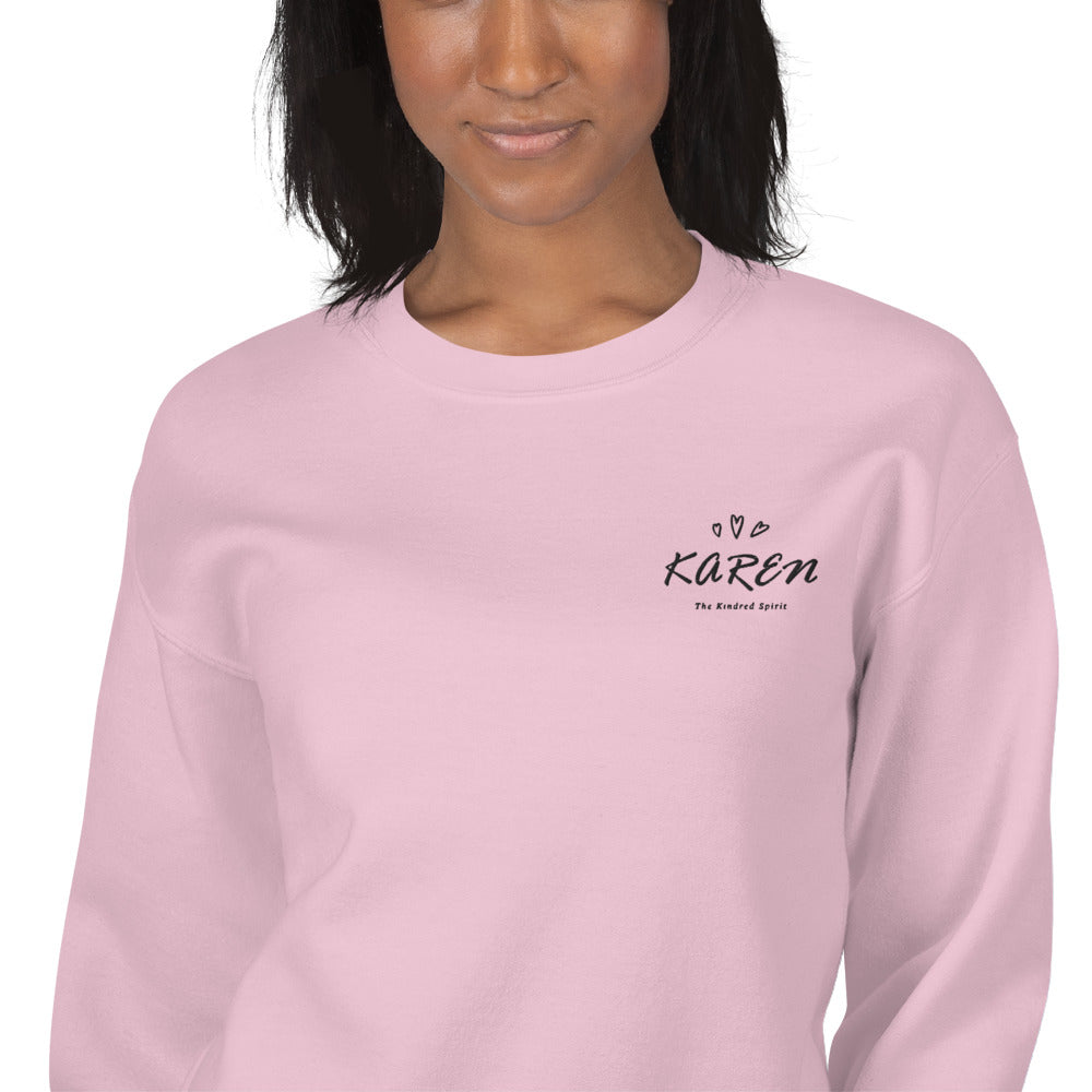 Karen Sweatshirt | Personalized Name Embroidered Pullover Crewneck