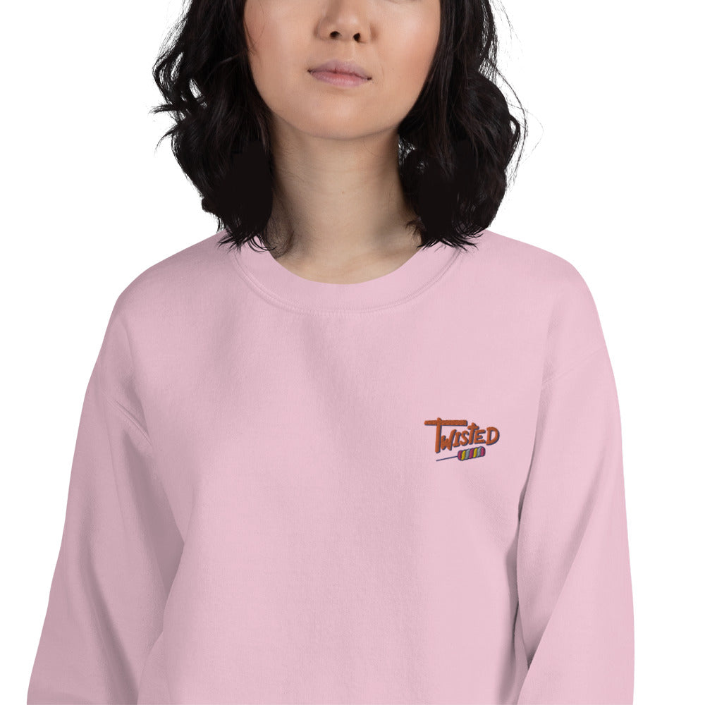 Twisted Sweatshirt - Custom Embroidered Pullover Crewneck for Women