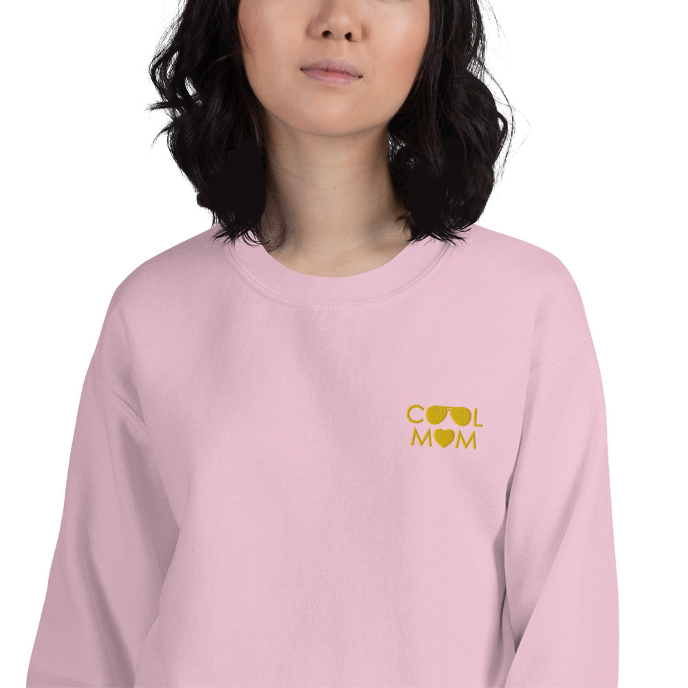 Cool Mom Sweatshirt Custom Embroidered Pullover Crewneck