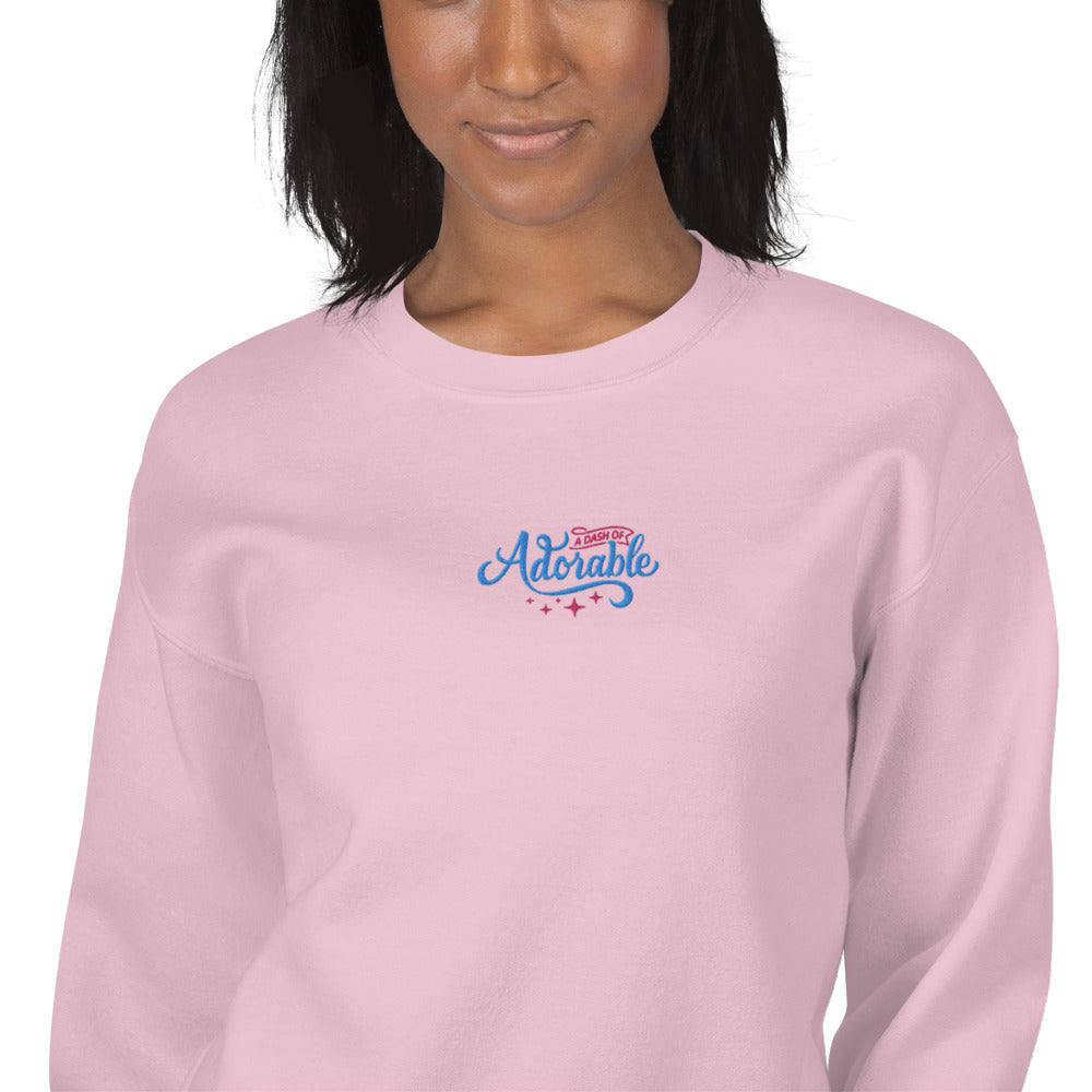 A Dash of Adorable Sweatshirt Custom Embroidered Pullover Crewneck