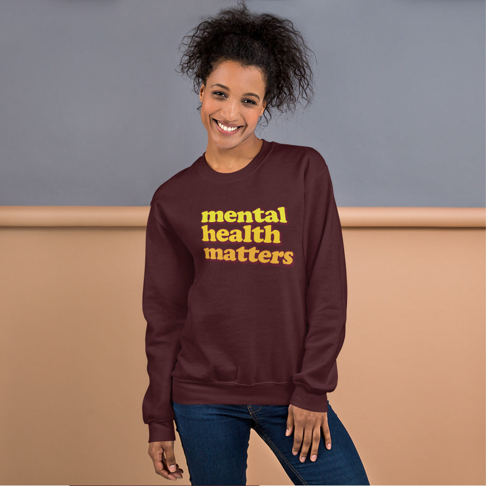 Mental Health Sweatshirt | Awareness for Mental Health Crewneck Women