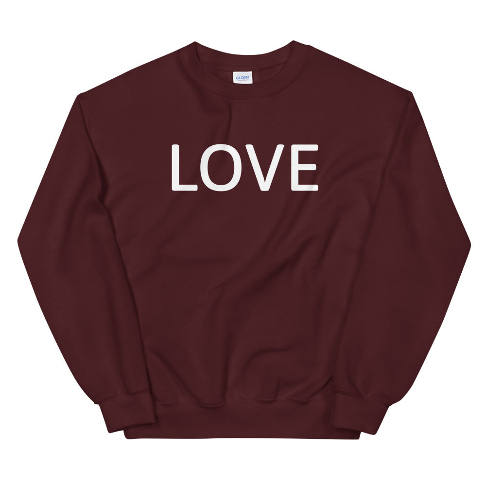"Love Sweatshirt | One Word ""Love"" Crewneck For Women"