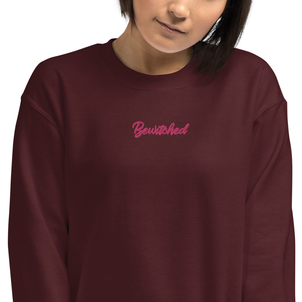 Custom Embroidered Bewitched Pullover Crewneck Sweatshirt