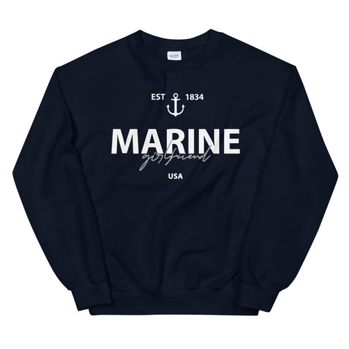 Marine Girlfriend Crewneck Sweatshirt for Women