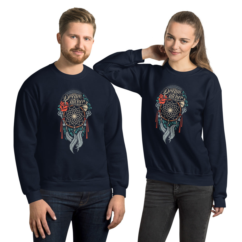Dream Catcher Drawing Graphic Crew Neck Sweatshirt