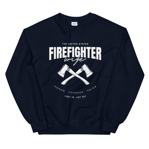 Firefighter Wife Sweatshirt | Fire Wife Crewneck for Women