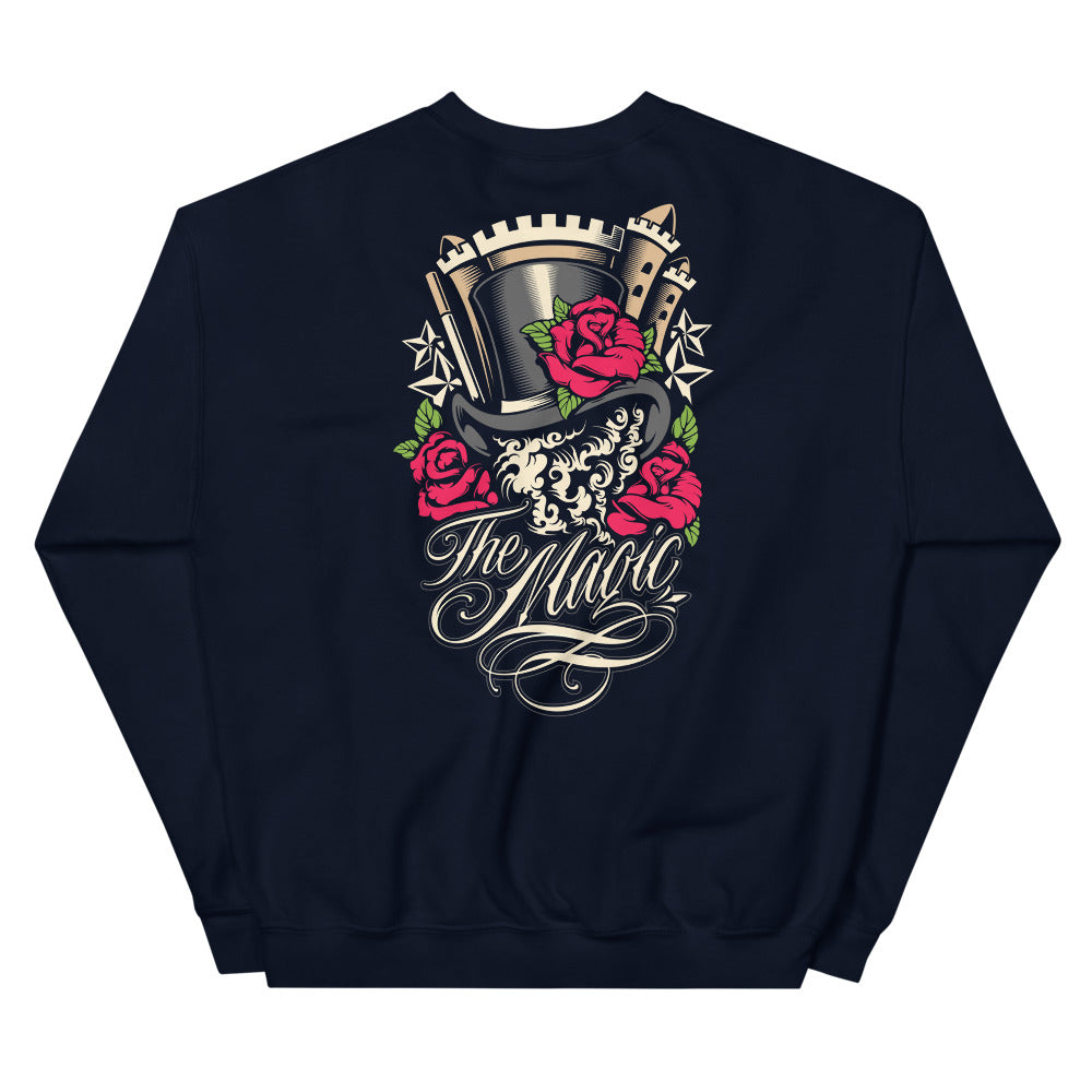 The Magic Back Print Graphic Crewneck Sweatshirt for Women