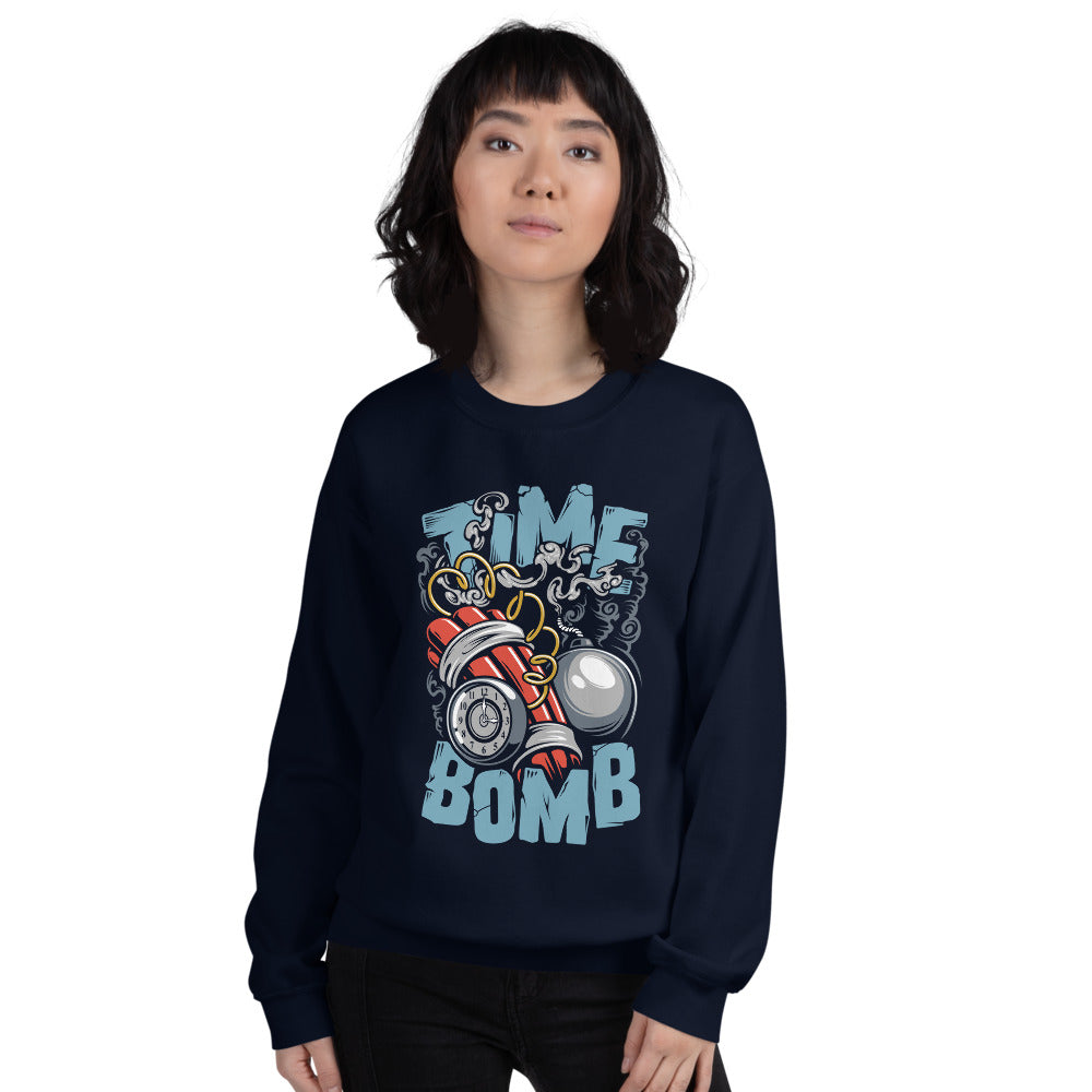 Funny Ticking Time Bomb Crew Neck Sweatshirt for Women