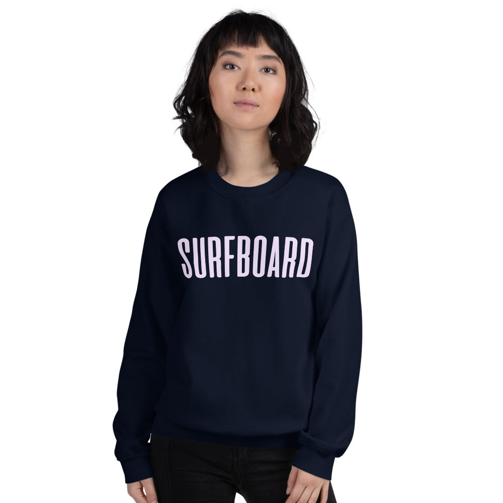 Beyonce Surfboard Sweatshirt | Single Word Surfboarding Crewneck Women