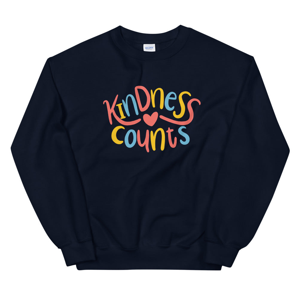 Kindness Counts Sweatshirt Crewneck for Women