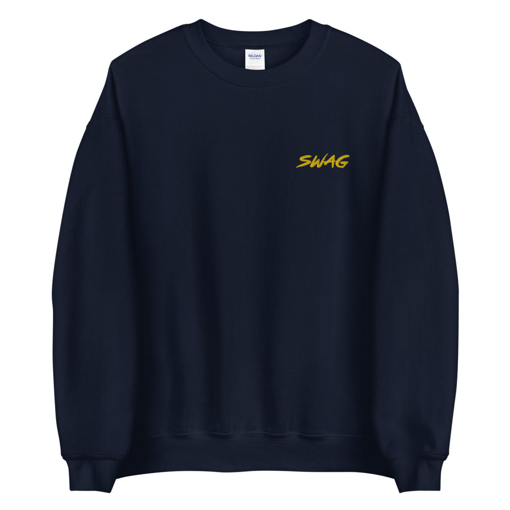 Swag Sweatshirt Embroidered Single Word Swag Pullover Crewneck