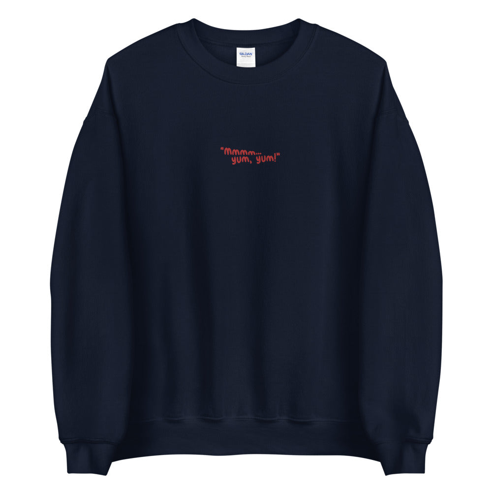 Yum Yum Custom Embroidered Pullover Crewneck Sweatshirt
