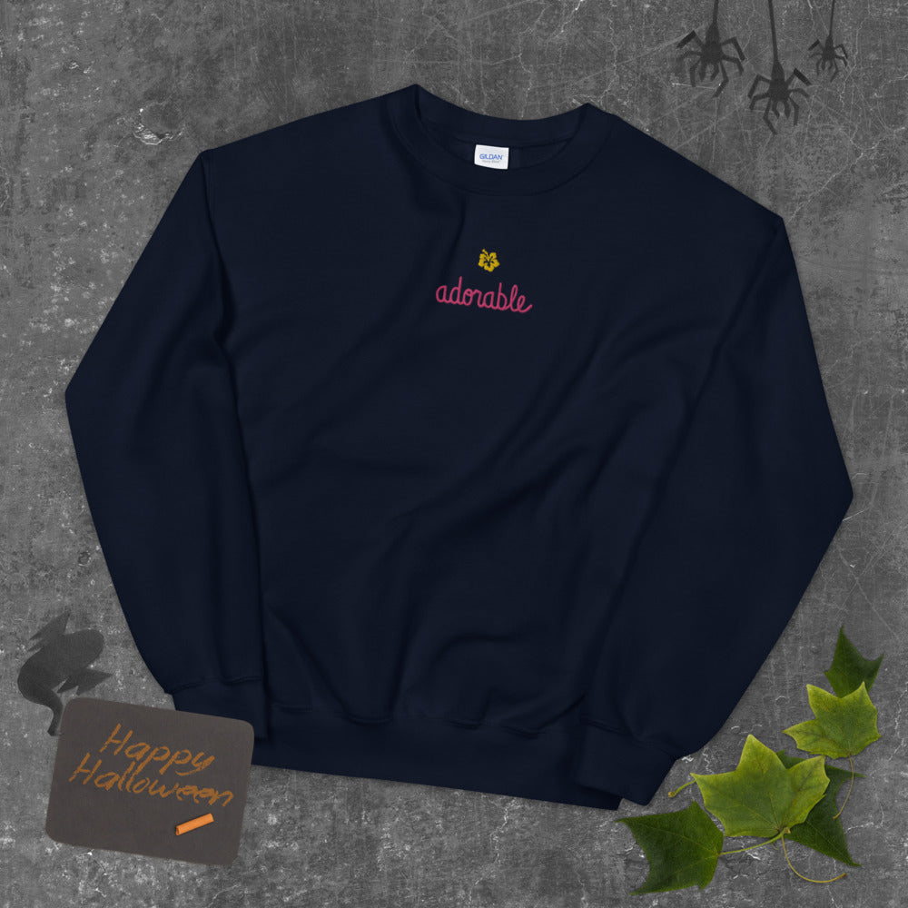 Adorable Sweatshirt Cute Custom Embroidered Pullover Crewneck