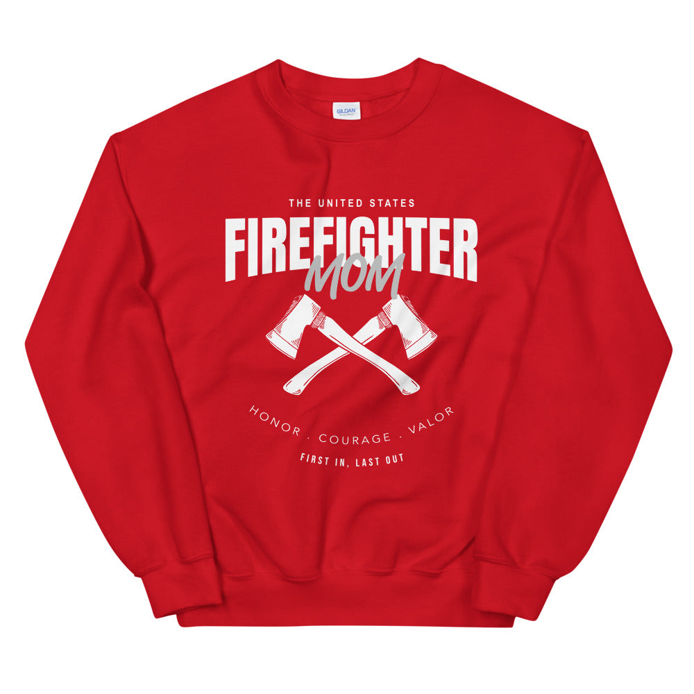 Firefighter Mom Sweatshirt | Fire Mom Crewneck for Women